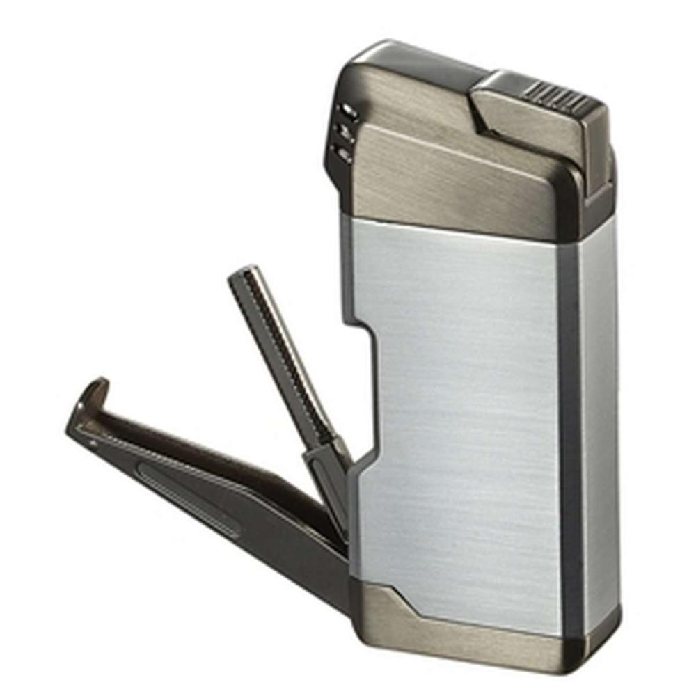 Epirus Soft Flame Pipe Lighter - Silver