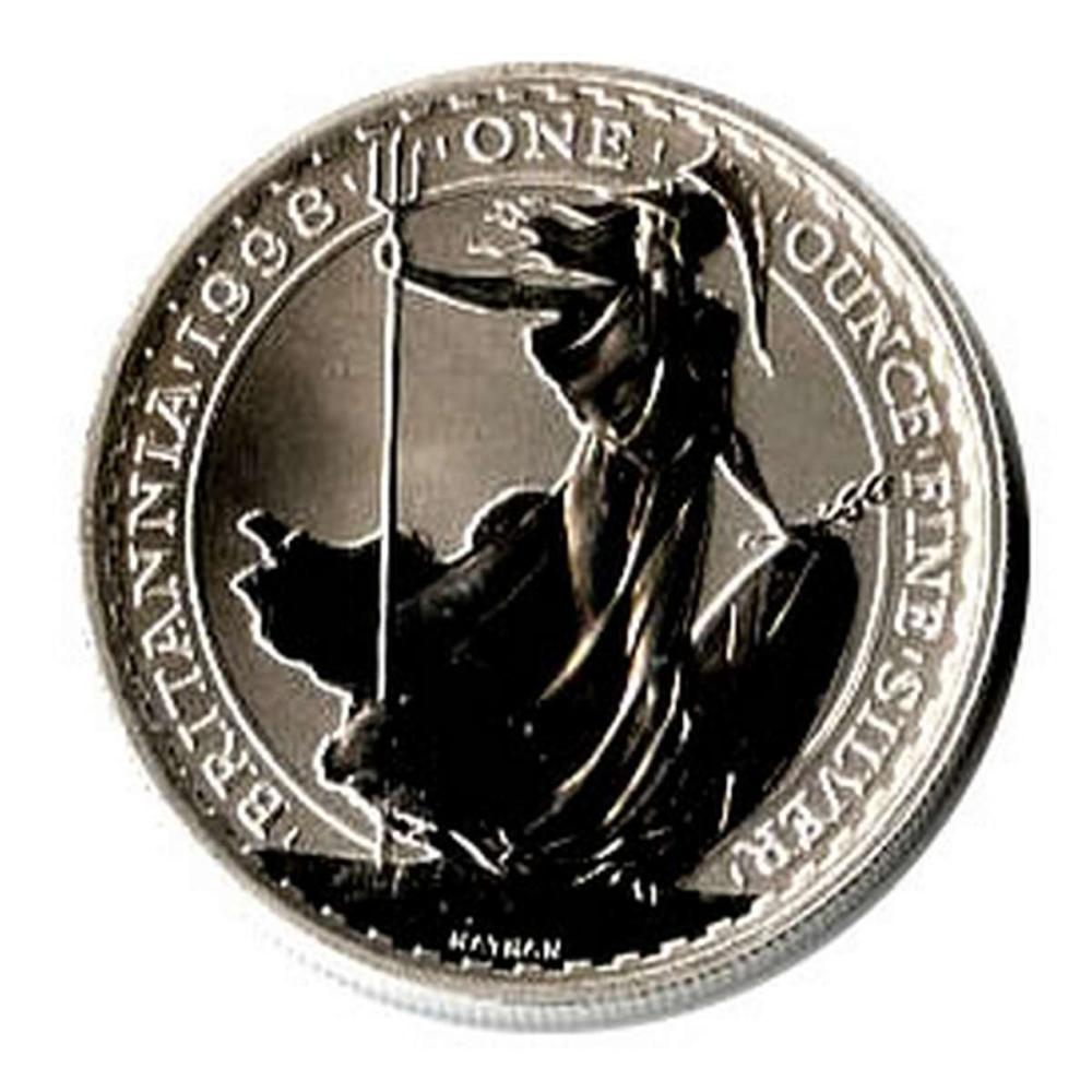 Uncirculated Silver Britannia 1 oz 1998
