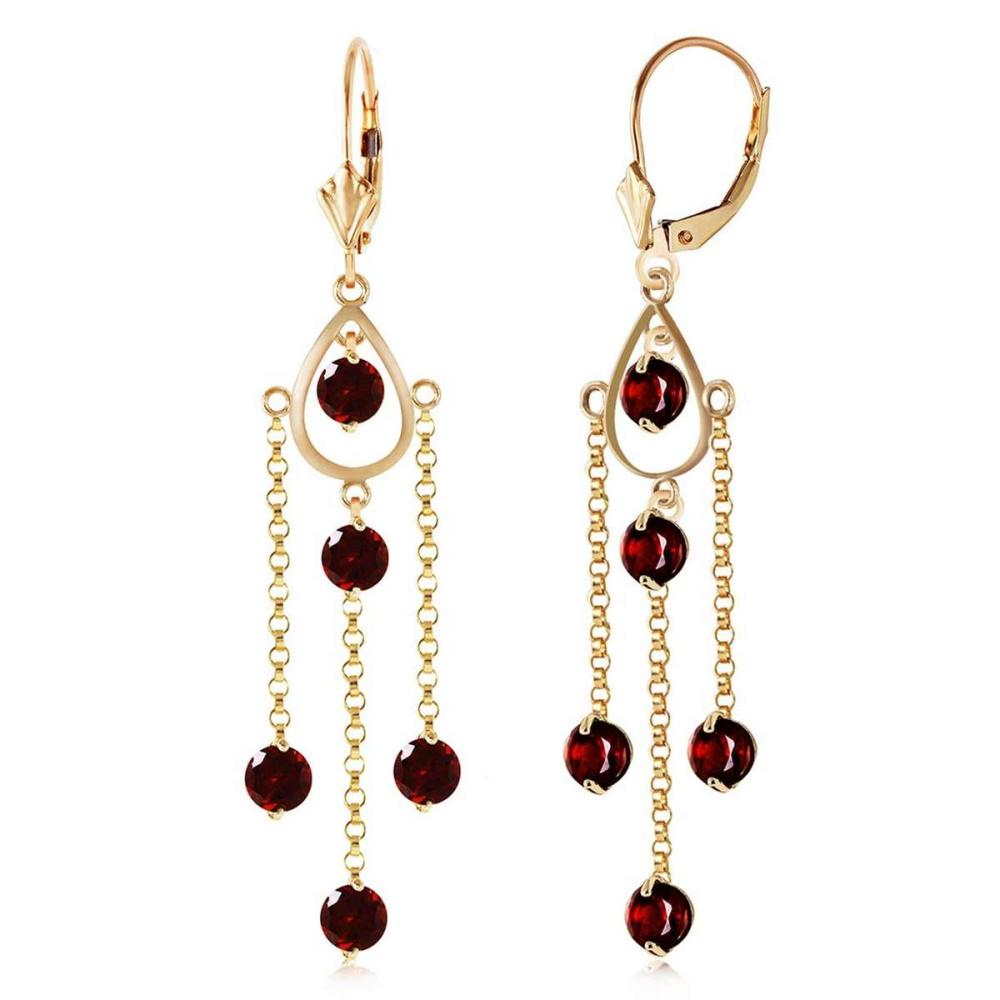 3 CTW 14K Solid Gold Gilded Age Garnet Earrings