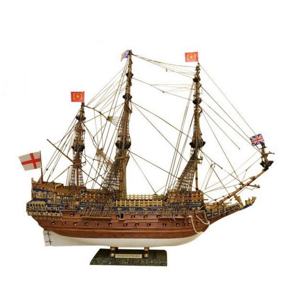Wooden Sovereign of the Seas Limited Tall Model Ship 39in. - Without Sail