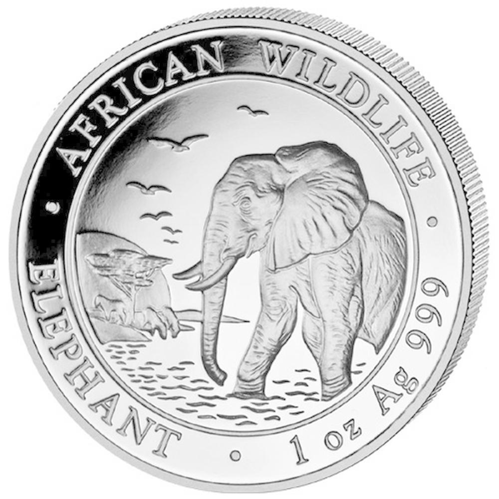 Somalia 1 oz Silver Elephant 2010