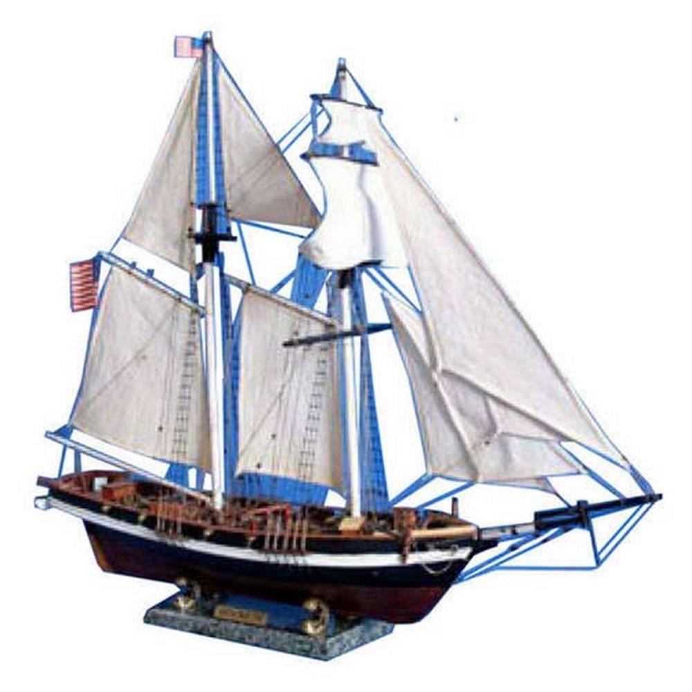 Wooden Baltimore Clipper Harvey Tall Model Ship 32in.