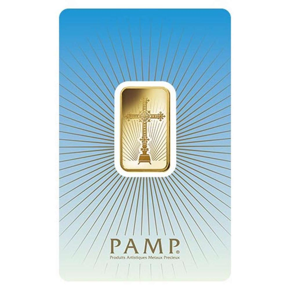 PAMP Suisse 10 Gram Gold Bar - Romanesque Cross