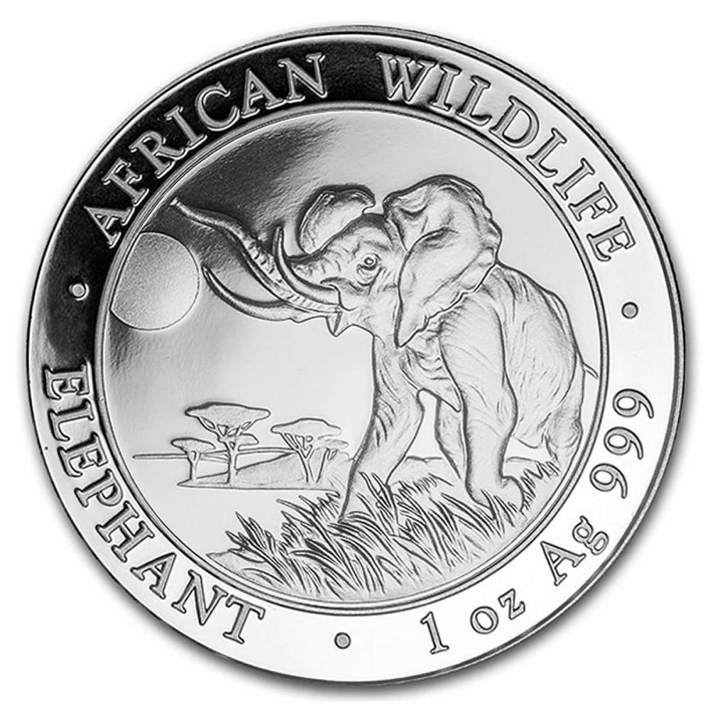 Somalia 1 oz Silver Elephant 2016