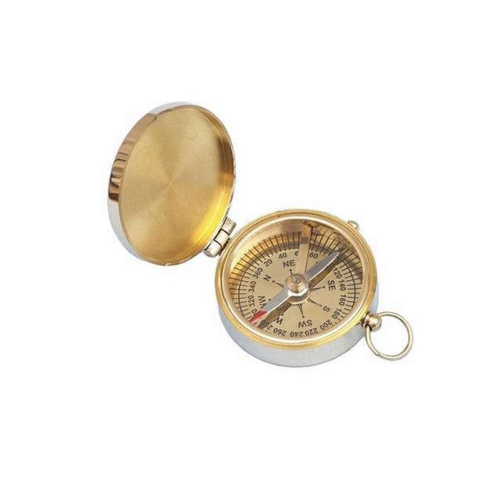 Solid Brass Magellan Compass 2in.