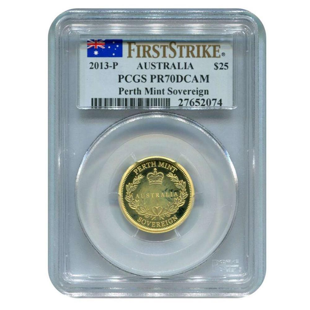 Certified Australian 2013-P Sovereign PR70DCAM PCGS First Strike