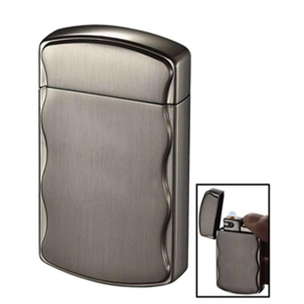 Fireball Brushed Gunmetal Coil Flame Lighter