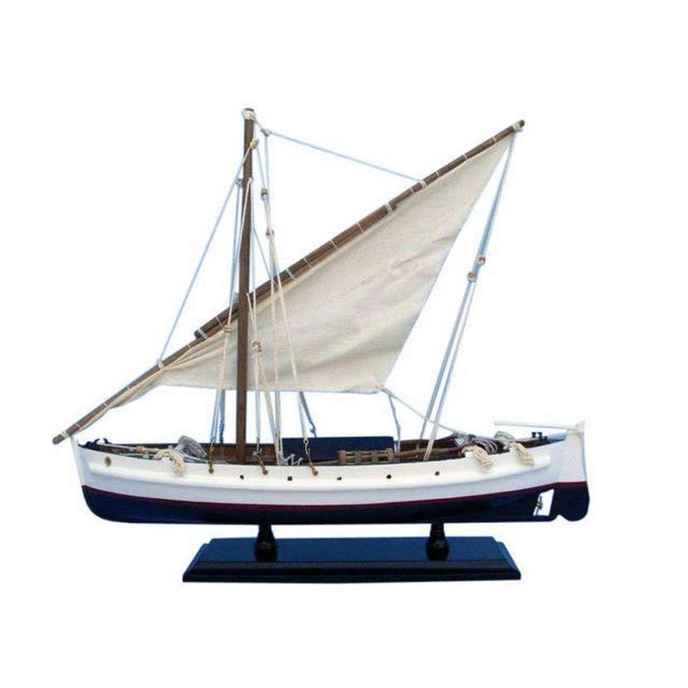 Wooden Second Wave Model Boat 19in.