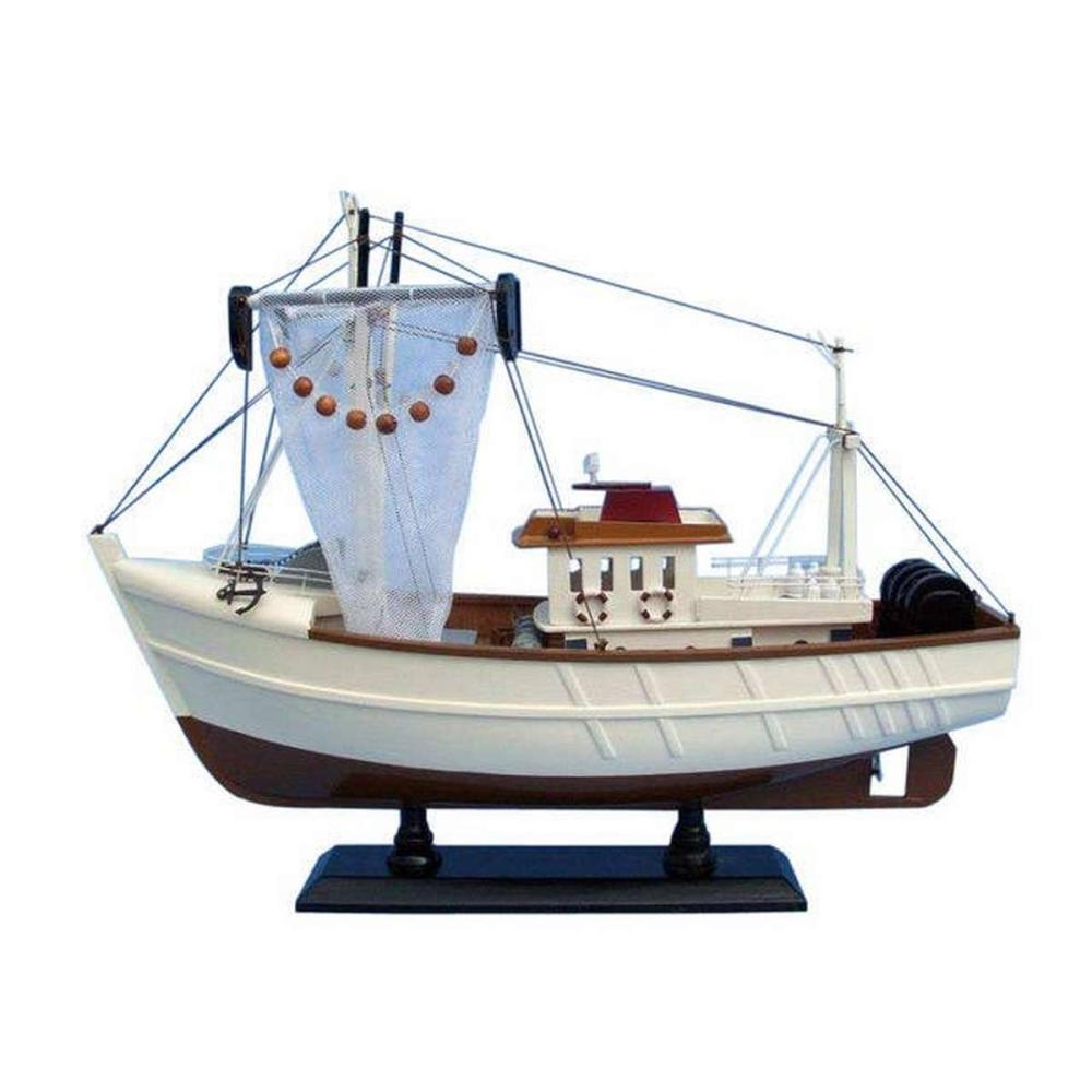 Wooden Sushi Bar Model Fishing Boat 18in.