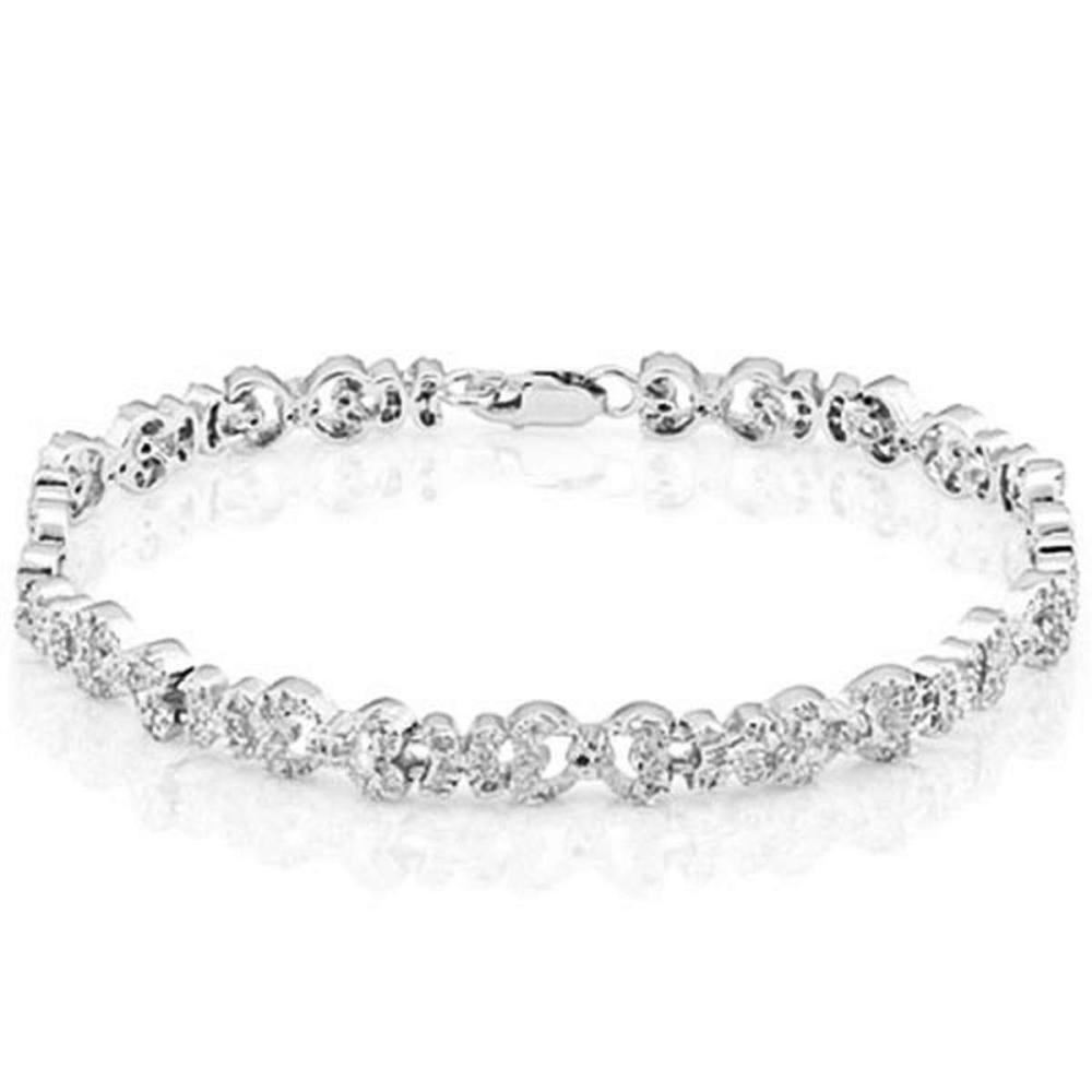 0.89 Carat Genuine white Daimond 925 Sliver Bracelet