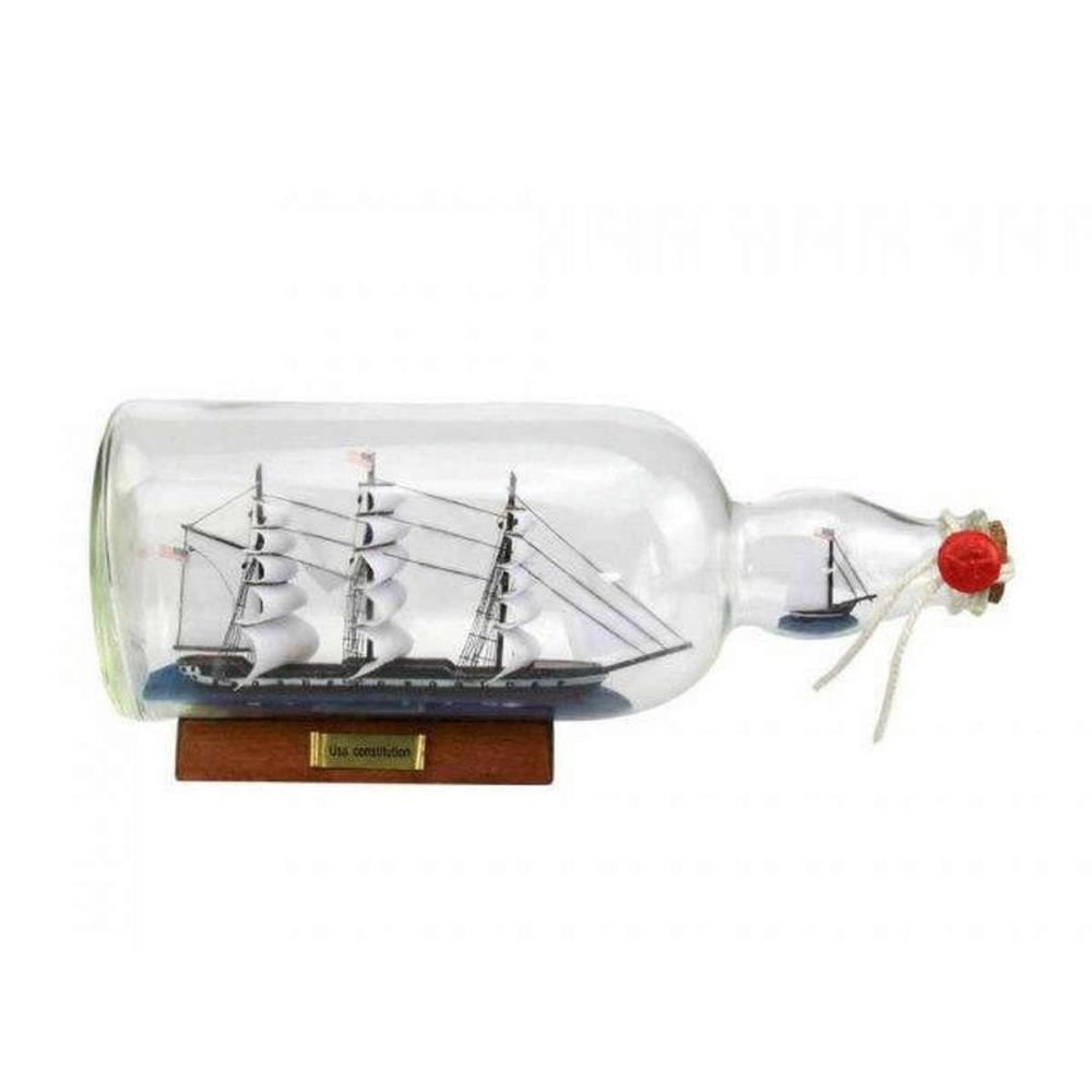 USS Constitution Model Ship in a Glass Bottle 11in.