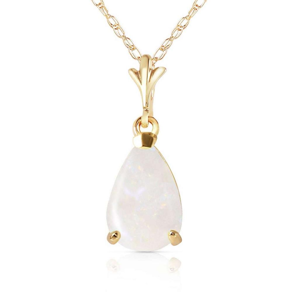 0.77 Carat 14K Solid Gold Necklace Natural Opal