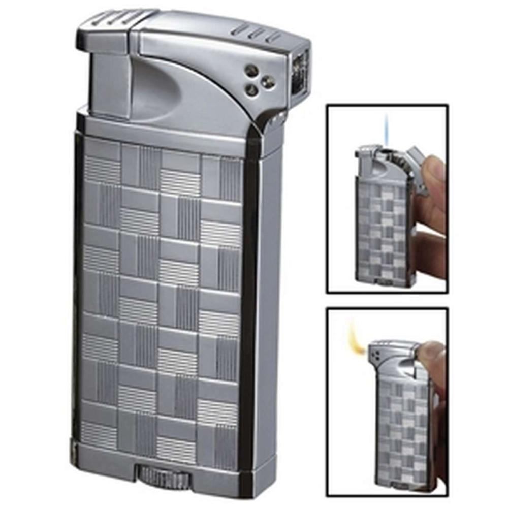 Coppia All-in-One Polished Chrome Cigar Cigarette and Pipe Lighter