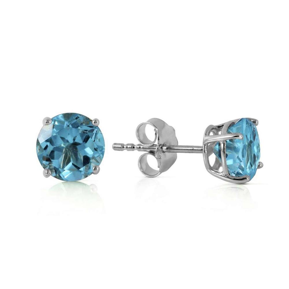 0.95 Carat 14K Solid White Gold Welcome Light Blue Topaz Earrings