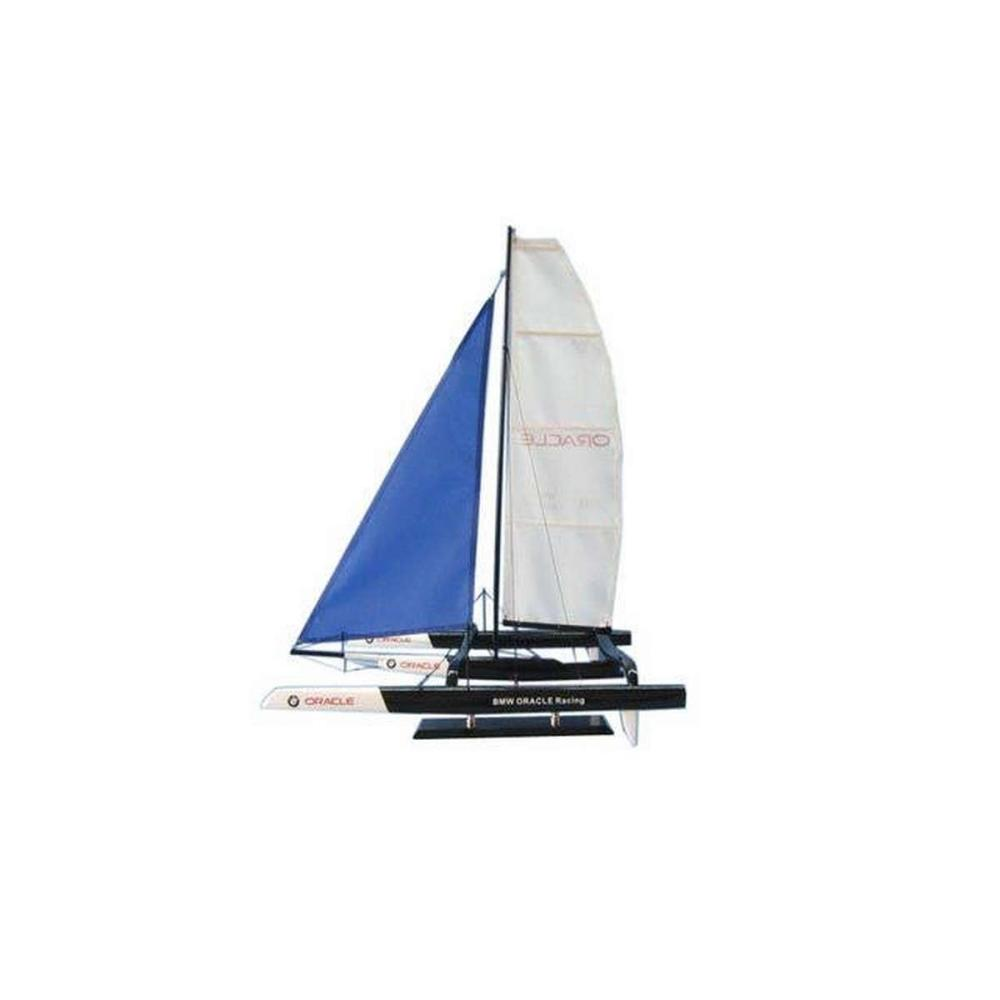 Wooden BMW Oracle Trimaran Limited Model Yacht 30in.