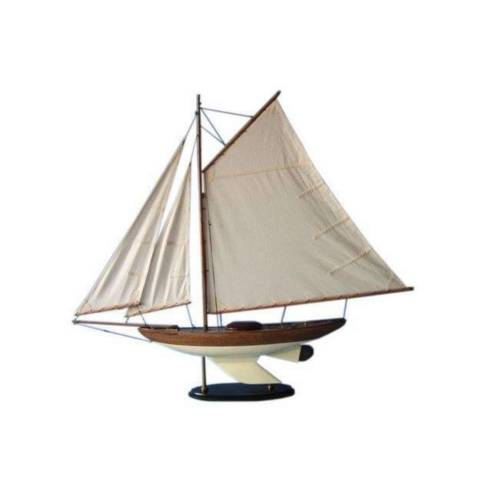 Wooden Fine Sailing Sloop Model Decoration 40in.