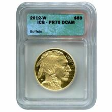 Certified Proof Buffalo Gold Coin 2012-W PF70 DCAM ICG