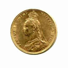 Great Britain Gold Sovereign 1887-1892 Victoria Jubilee Head