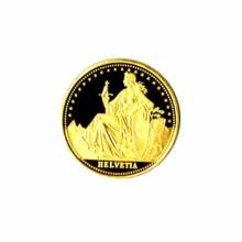 Swiss Gold Helvetia Quarter Ounce (dates our choice)