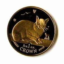 Isle of Man Gold Cat 1 Ounce 1996
