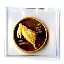 Singapore Gold One Ounce 1987 Rabbit