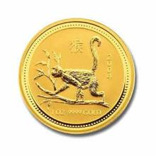 2004 Australia 1/2 oz Gold Lunar Monkey