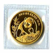 Chinese Gold Panda 1 Ounce 1990