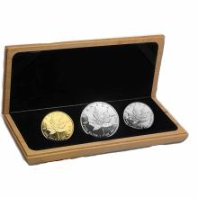 Canada 1989 Commemorative Maple Leaf 1 Ounce Gold Silver Platinum Set