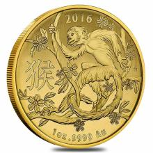 2016 Royal Australia Mint Gold Lunar Monkey Coin 1 oz