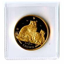 Isle of Man Gold Cat 1 Ounce 2007