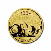 Chinese Gold Panda Quarter Ounce 2013