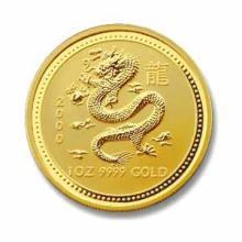 2000 Australia 1 oz Gold Lunar Dragon