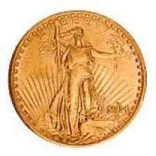 Early Gold Bullion $20 Saint Gaudens Extra Fine