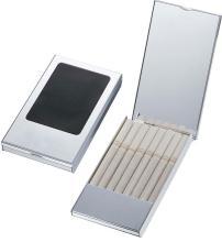 Visol Devlin Carbon Fiber Silver Plated Cigarette Case