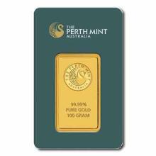 Perth Mint 100 Gram Gold Bar