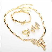 FLAWLESS CREATED DIAMOND 18K GOLD PLATED GERMAN SILVER 4PCS SET