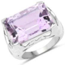 14.10 Carat Genuine Amethyst .925 Sterling Silver Ring
