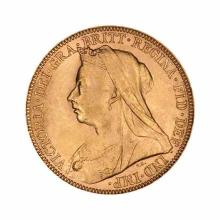 Great Britain Gold Sovereign 1893-1901 Victoria Old Head