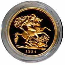 Great Britain 5lb Five Pound Proof Gold Coin (weight 1.177) Dates Our Choice
