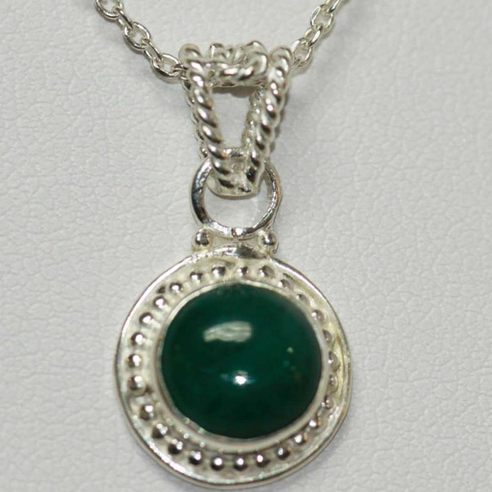 NATURAL EMERALD PENDANT 1.45 CTW .925 STERLING SILVER