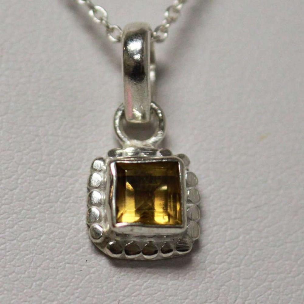 NATURAL CITRINE PENDANT 0.60 CTW .925 STERLING SILVER