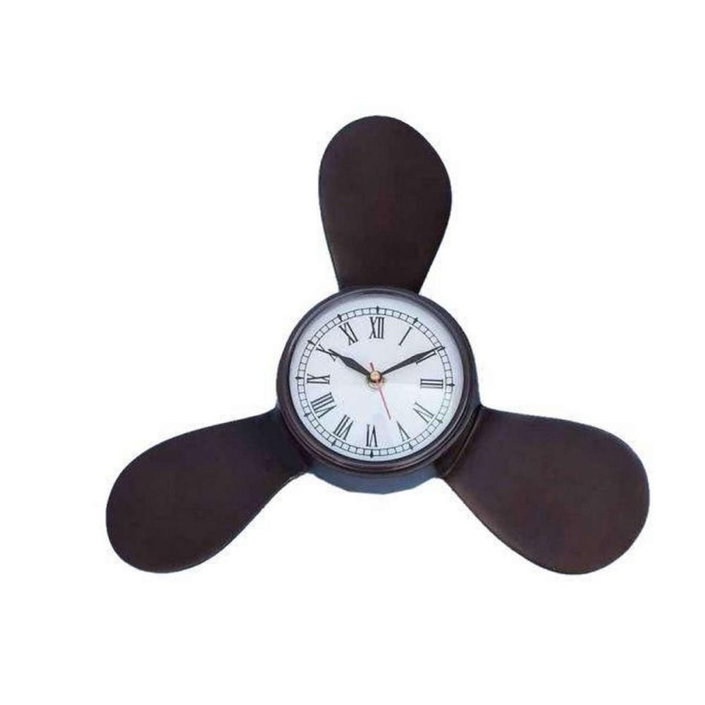 Antique Copper Decorative Ships Propeller Clock 18in.