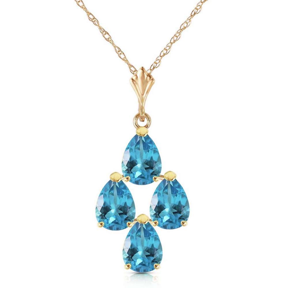 1.5 Carat 14K Solid Gold Not Just An Admirer Blue Topaz Necklace