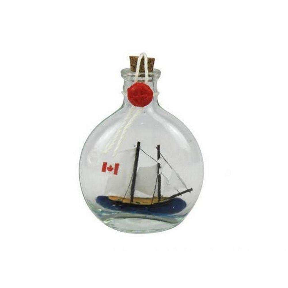 Bluenose Sailboat in a Glass Bottle 4in.