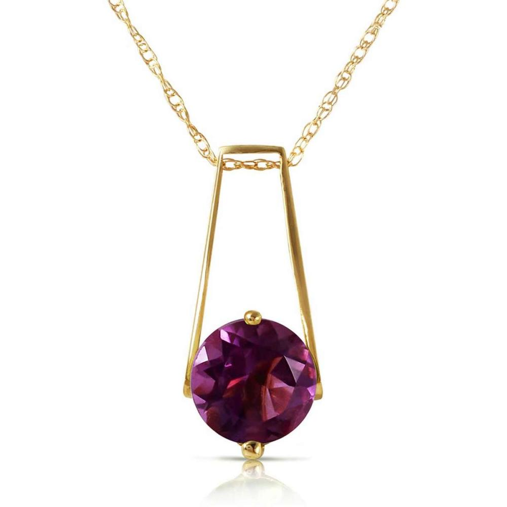 1.45 CTW 14K Solid Gold Anything For You Amethyst Necklace