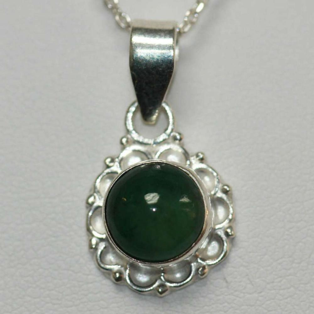 NATURAL EMERALD PENDANT 1.75 CTW .925 STERLING SILVER
