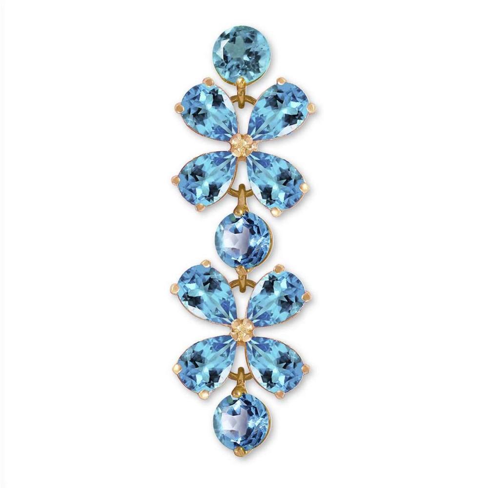 20.7 Carat 14K Solid Gold Bracelets Natural Blue Topaz