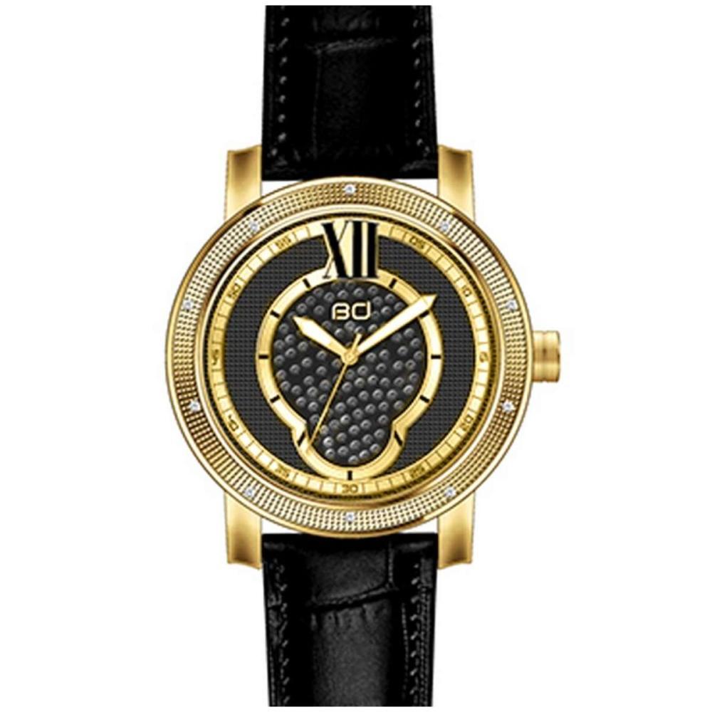 Diamond Watch Plated Yellow Gold