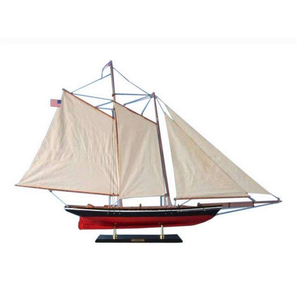 Wooden America Model Sailboat Decoration 50in.