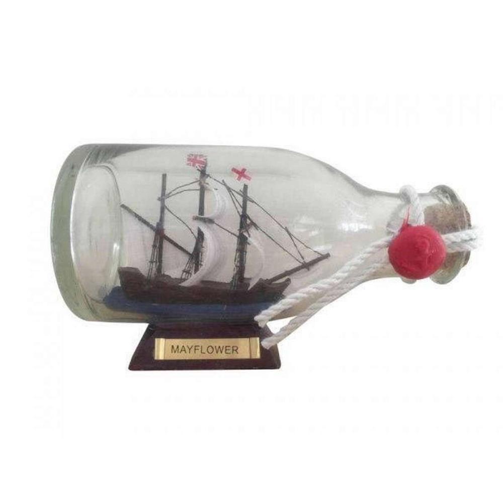 Mayflower Model Ship in a Glass Bottle 5in.